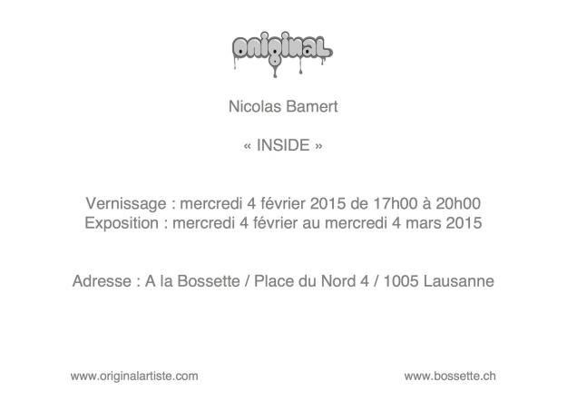 Flyer expo INSIDE à la Bossette - originalartiste - Nicolas Bamert 2