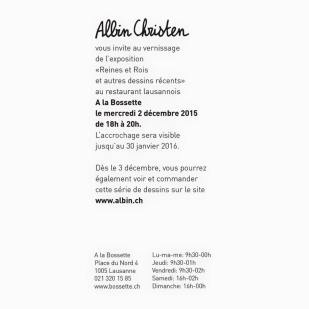 invitation Albin
